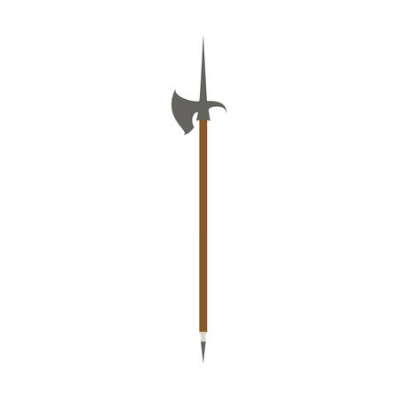 crusades: abstract medieval weapon on a white background