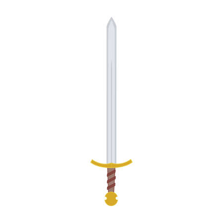 honor guard: abstract medieval weapon on a white background