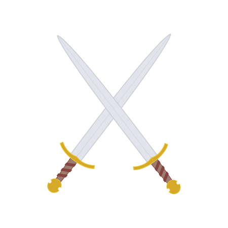 crusades: abstract medieval weapons on a white background Illustration