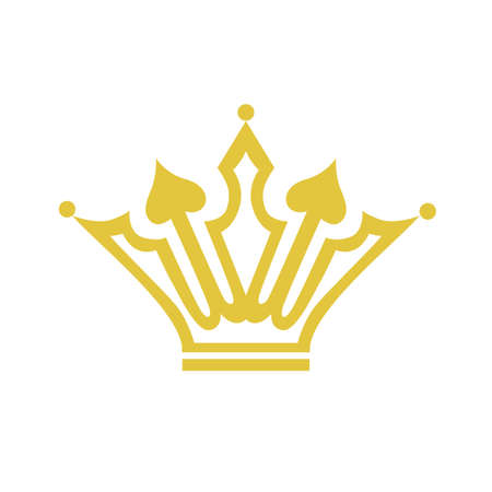 abstract medieval crown on a white background Illustration