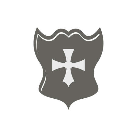 crusades: abstract medieval shield on a white background Illustration