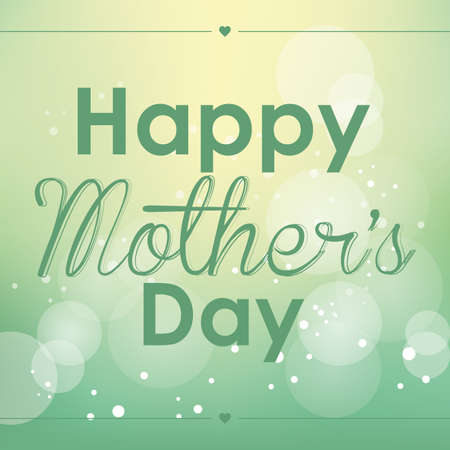 abstract happy mother's day text on a special background