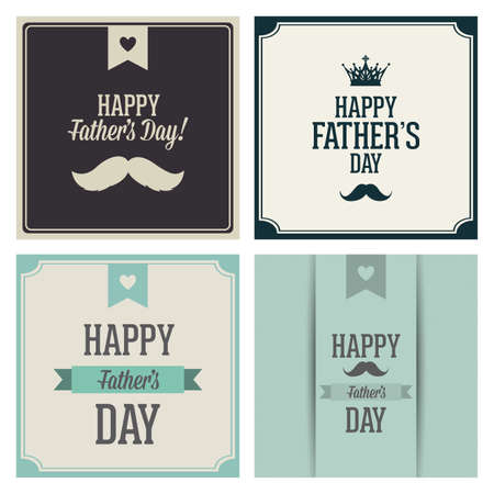 abstract happy fathers day text on a special background