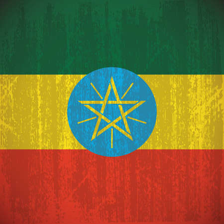 ethiopia abstract: abstract Ethiopia flag with special dirty effect Illustration
