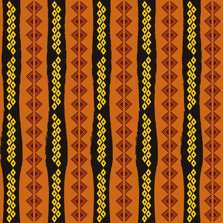 abstract africa background with some special objects  Illustration
