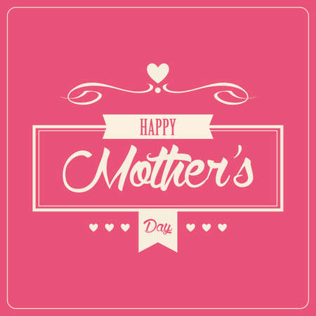 abstract happy mothers day on a white background Illustration