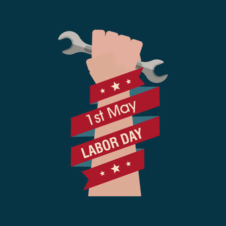 abstract Labor day background with special objects Vector
