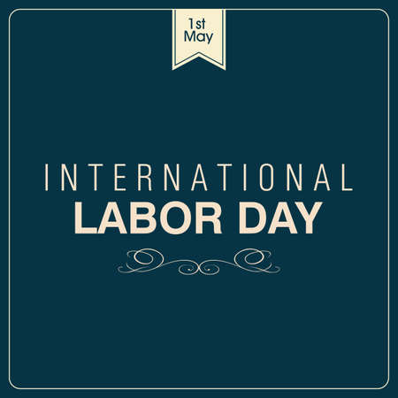 abstract Labor day background with special objects