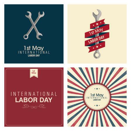 gewerkschaft: abstrakte Labor Day Hintergrund mit speziellen Objekten