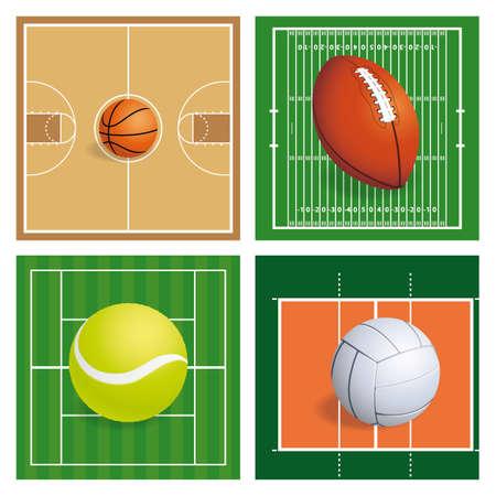 balones deportivos: balones de deporte abstractas sobre un fondo diferente