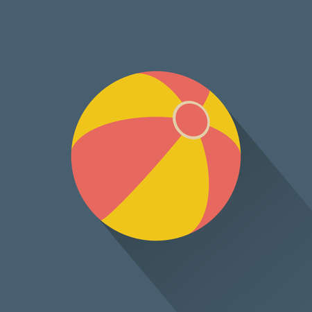 beach ball: abstract summer object on a special background