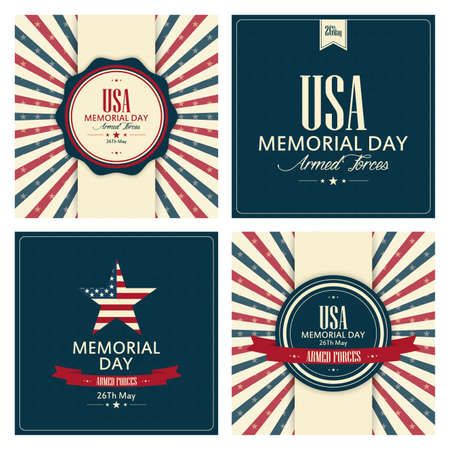 memorial day: abstract memorial day background with special objects