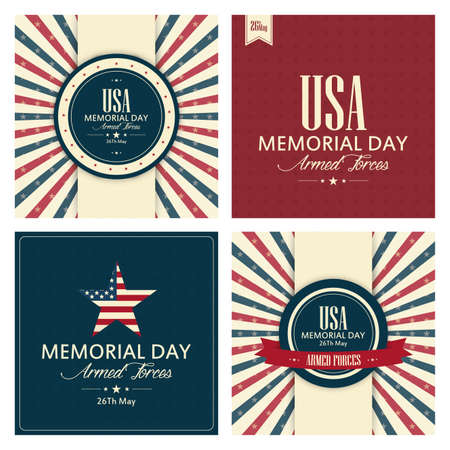 abstract memorial day background with special objects