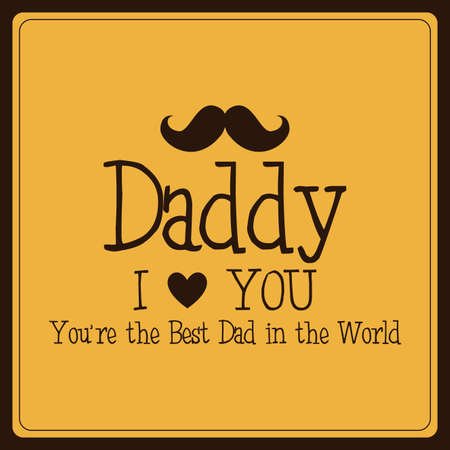 fathers day background: abstract fathers day background with special objects Illustration