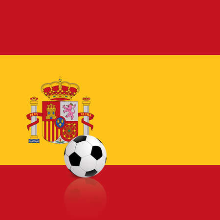 flag of spain: abstract Spain flag with a soccer ball