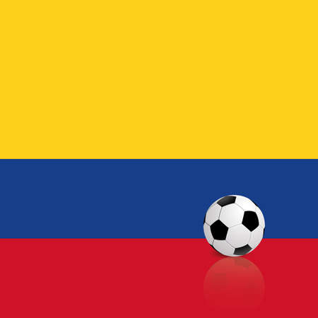 republic of colombia: Abstract Colombia flag with a soccer ball