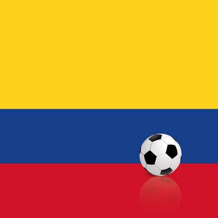bandera de colombia: Bandera Resumen Colombia con un balón de fútbol