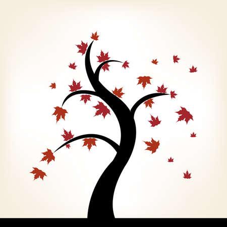 abstract autumn tree on a white background Illustration