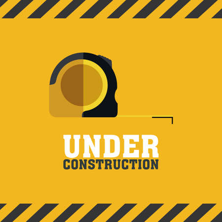 abstract under construction background with special objects Vector