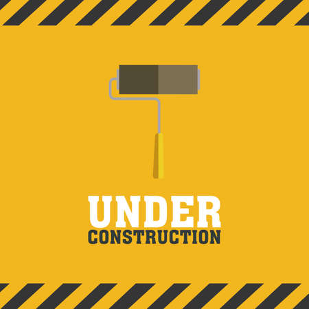 construction background: abstract under construction background with special objects Illustration