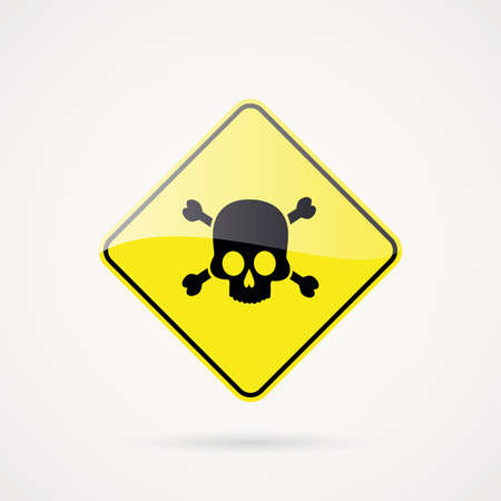 explosion hazard: abstract danger signal on a white background