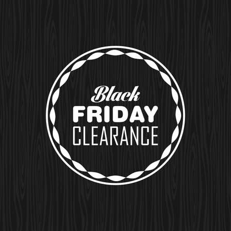 Abstract black friday label on a special background