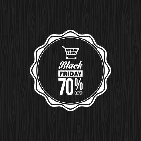 Abstract black friday discount label on a special background