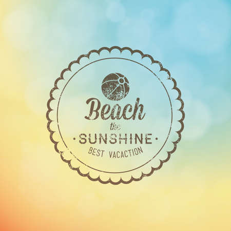 abstract summer label on a special background Illustration