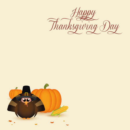abstract thanksgiving day background with special allusive objects Zdjęcie Seryjne - 29966798