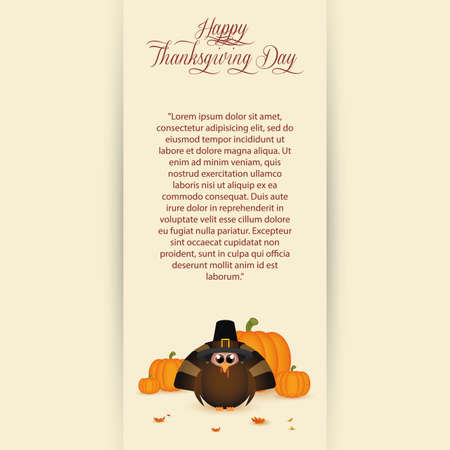 abstract thanksgiving day background with special allusive objects Vector