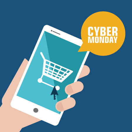 abstract Cyber Monday background with special objects Vector