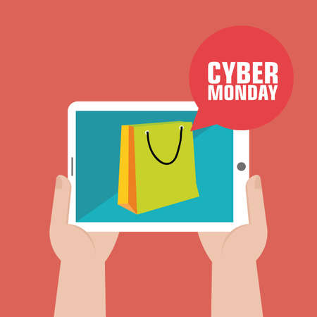 abstract Cyber Monday background with special objects Zdjęcie Seryjne - 30453675
