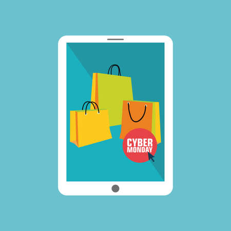 abstract Cyber Monday background with special objects