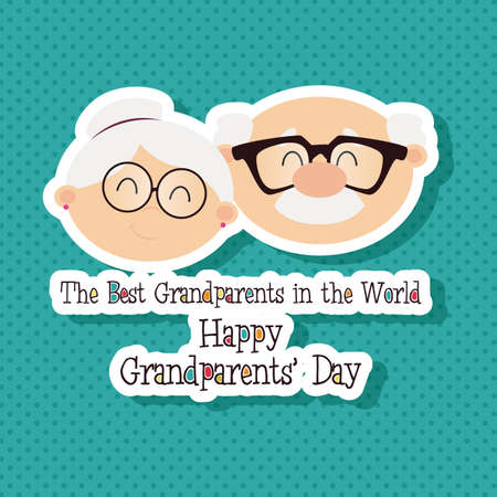 happy family isolated: abstract grandparents day background with special objects Illustration