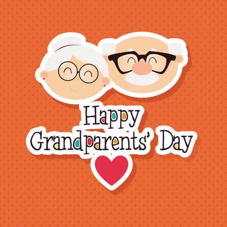 concept day: abstract grandparents day background with special objects Illustration