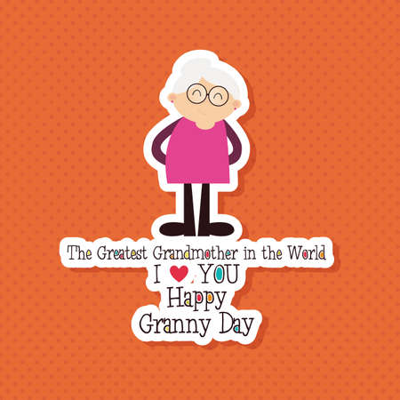 abstract family: abstract grandparents day background with special objects Illustration
