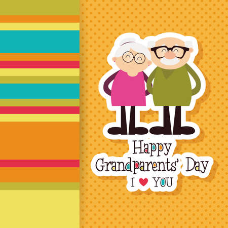 granddad: abstract grandparents day background with special objects Illustration