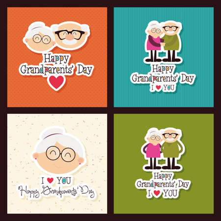 abstract grandparents day background with special objects Illustration