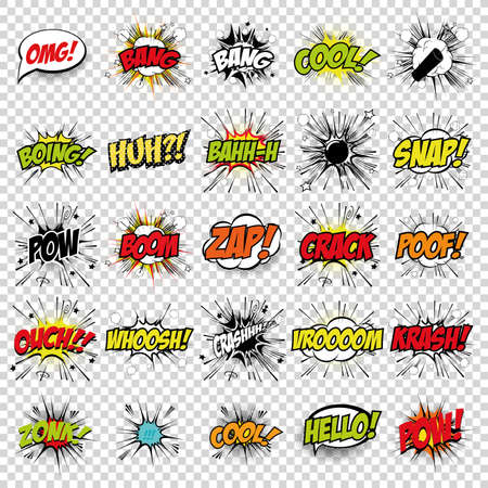 copy text: abstract set of pop art objects on a special background