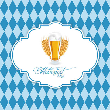 german tradition: abstract oktoberfest background with special allusive objects