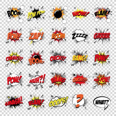 abstrakte Reihe von Pop-Art-Objekte auf einem besonderen Hintergrund