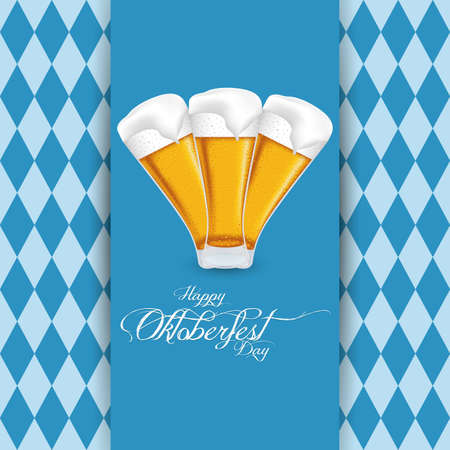 abstract oktoberfest background with special allusive objects
