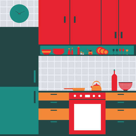 pot holder: abstract Kitchen background with some special objects