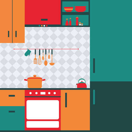 large group of object: abstract Kitchen background with some special objects