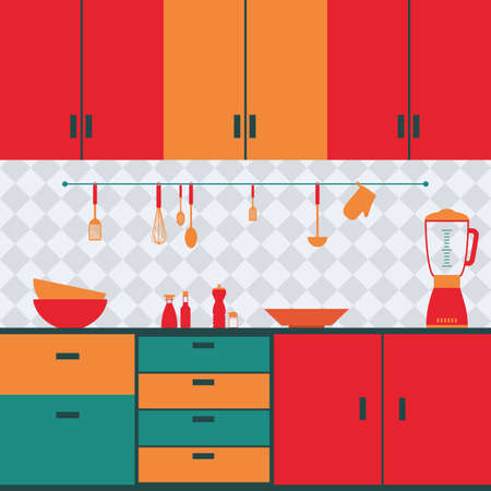 small group of objects: abstract Kitchen background with some special objects