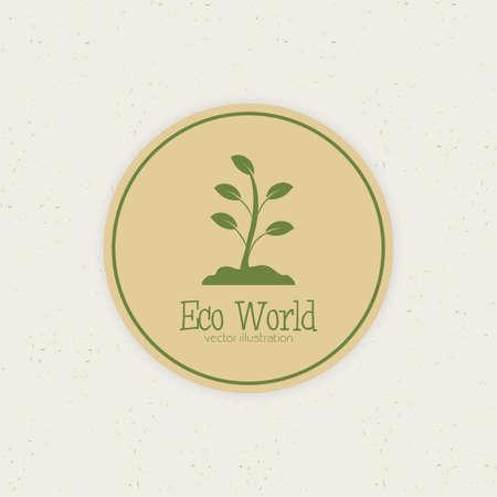 abstract eco world label on a special background Zdjęcie Seryjne - 30852028