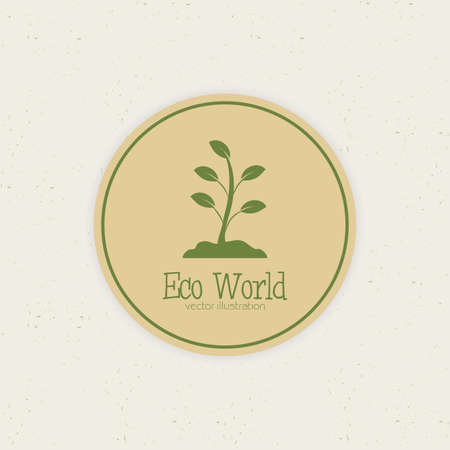 abstract eco world label on a special background