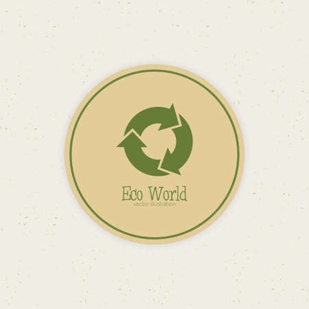 abstract eco world label on a special background Zdjęcie Seryjne - 30852032
