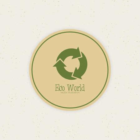 Abstracto etiqueta ecológica mundo en un fondo especial Foto de archivo - 30852032