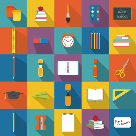 lens brush: abstract school objects on a special background Illustration